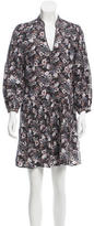 Veronica Beard Floral Print Silk Dress