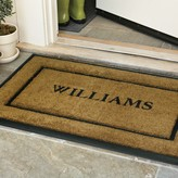 Williams-Sonoma Williams Sonoma Personalized Rubber & Coir Picture Frame Doormats