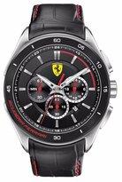 Ferrari Men's Gran Premio 0830182 Black Leather Analog Quartz Watch