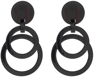 Natori Horn Double Circle Earrings