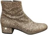 Saint Laurent Silver Leather Boots