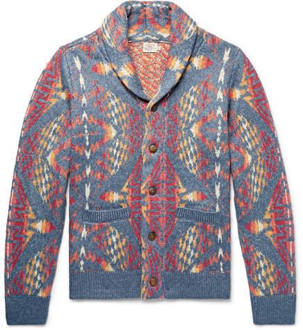 Faherty Shawl-Collar Cotton-Blend Cardigan