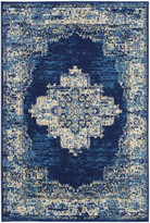 "Nourison Grafix Persian Area Rug, Navy Blue, 3'9""x5'9"""