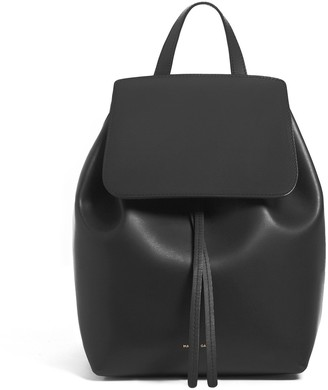 Mansur Gavriel Black Mini Backpack - Raw