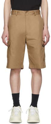 MSGM Tan Gabardine Cargo Shorts