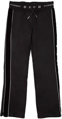 Givenchy Cotton Sweatpants W/ Velvet Details