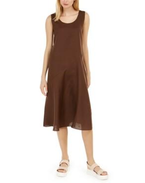 Eileen Fisher Scoop-Neck Linen Slip Dress