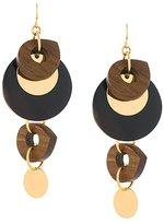 Marni mixed pendant earrings
