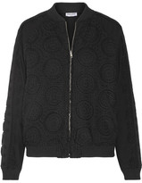 Opening Ceremony Broderie Anglaise Cotton Bomber Jacket - Black