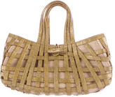 Nancy Gonzalez Crocodile Basket Handle Bag
