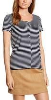 Tom Tailor Women's Striped Shirt W. Placket T-Shirt,EU Size 38 (Manufacturer's Size: M)