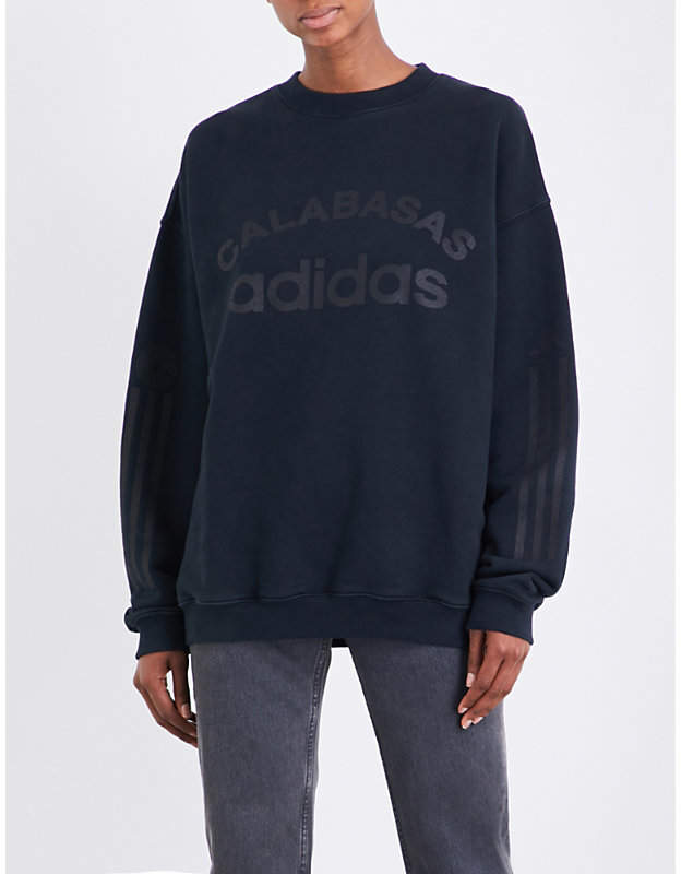 Yeezy Libra Season 5 Calabasas Adidas Cotton-Jersey Sweatshirt
