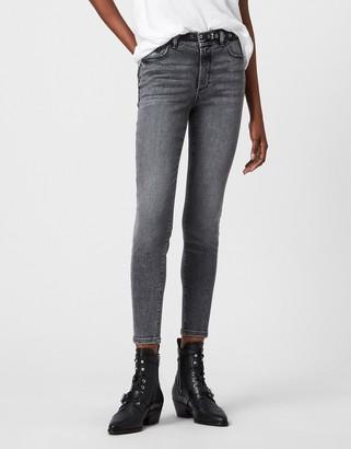 AllSaints Miller skinny jeans in vintage black