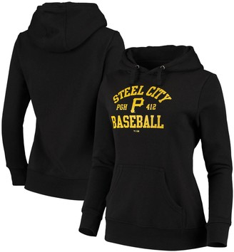 Women's Fanatics Branded Black Pittsburgh Pirates Steel City Baseball Pullover Hoodie