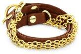 "Gorjana James"" Redwood Leather Wrap Bracelet"
