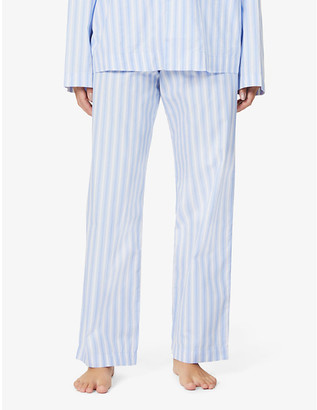 Tekla High-rise organic-cotton pyjama bottoms