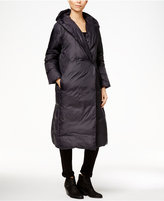 Eileen Fisher Shawl-Collar Hooded Puffer Coat
