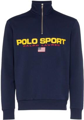 Polo Ralph Lauren logo-print zipped sweatshirt