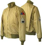 The Custom Jacket Fury WW2 Brad Pitt Brown Tanker Cotton Bomber Army Jacket (XS, )