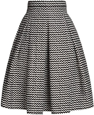Rumour London Ravello Chevron Midi Skirt