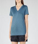 Reiss Leo Neckline-Trim T-Shirt