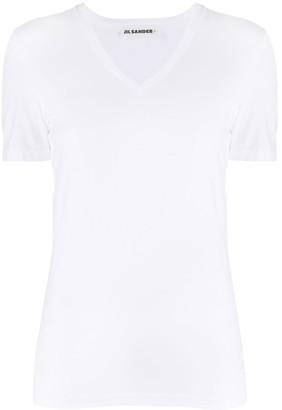 Jil Sander V-neck T-shirt