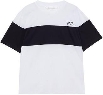 Victoria Victoria Beckham Two-tone Cotton-jersey T-shirt