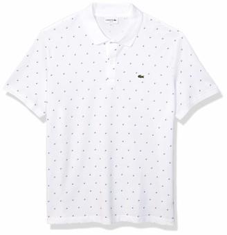 Lacoste Mens Short Sleeve Mini Pique Mini Pattern Slim Fit Polo Polo Shirt