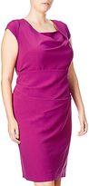 Adrianna Papell Plus Size Draped Cowl Neck Sheath Dress, Deep Berry