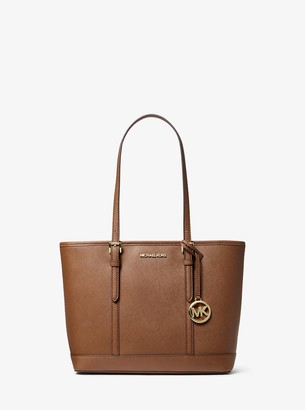 MICHAEL Michael Kors Jet Set Travel Small Saffiano Leather Top-Zip Tote Bag
