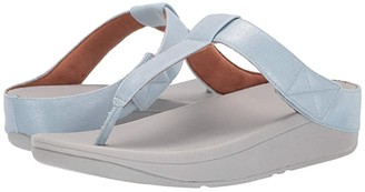 FitFlop Mina Toe-Thong (Light Blue Shimmer Denim) Women's Shoes
