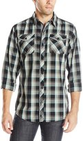 Burnside Men's Incoming Plaid Long Sleeve Woven Shirt