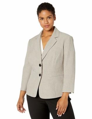 Kasper Women's 2 Button Notch Collar Melange Jacket