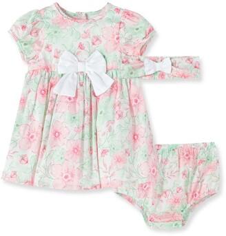 Little Me Flourish Dress w/ Bloomers & Headband