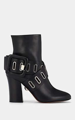 SAMUELE FAILLI Women's Buckle-Strap Leather Ankle Boots - Black