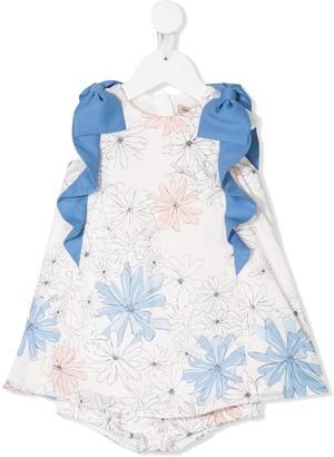Hucklebones London Floral-Print Short Dress