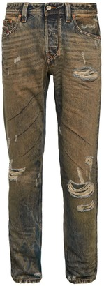 Diesel Larkee Beex Distressed Straight Jeans