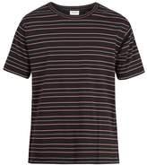 Saint Laurent Striped Cotton-jersey T-shirt
