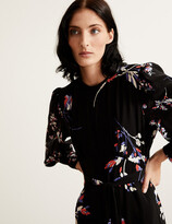 Thumbnail for your product : Marks and Spencer Floral Blouson Sleeve Maxi Waisted Dress
