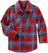 "Osh Kosh OshKosh Little Boys' Toddler "" Rock"" Flannel Button-Down"