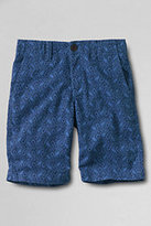 Classic Boys Husky Pattern Cadet Shorts-Duck Egg Blue Tropical