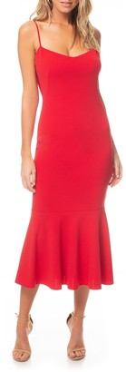 Katie May Twirl Sleeveless Drape Back Dress