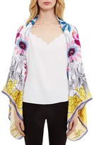 Ted Baker Passion Flower Cape Silk Scarf