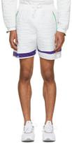 Adidas X Kolor White Nylon Embossed Shorts