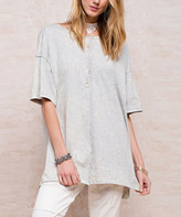 Jane Washed Blue Boxy Tee