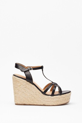 Nasty Gal Womens Step Back Woven Strappy Wedges - Black - 9, Black