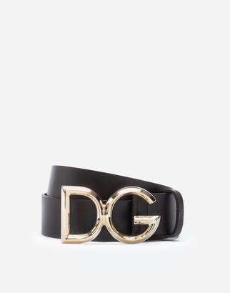 Dolce & Gabbana Luxury Leather Belt With Logo