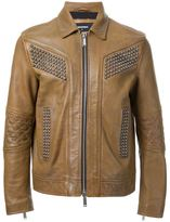 DSQUARED2 studded leather jacket