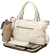 OiOi Tote Diaper Bag - Leather Ivory Slouch by