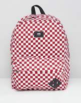 Vans Red Checkerboard Backpack